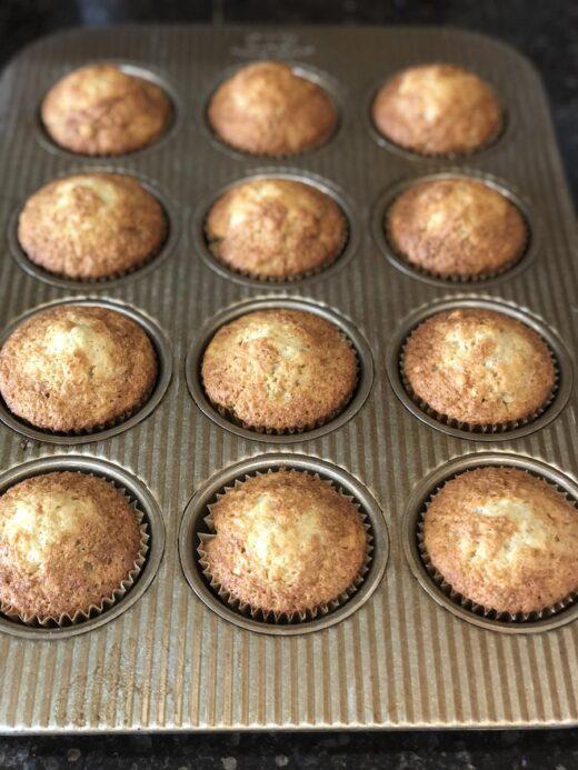 Gluten Free Banana Muffins in muffin pan