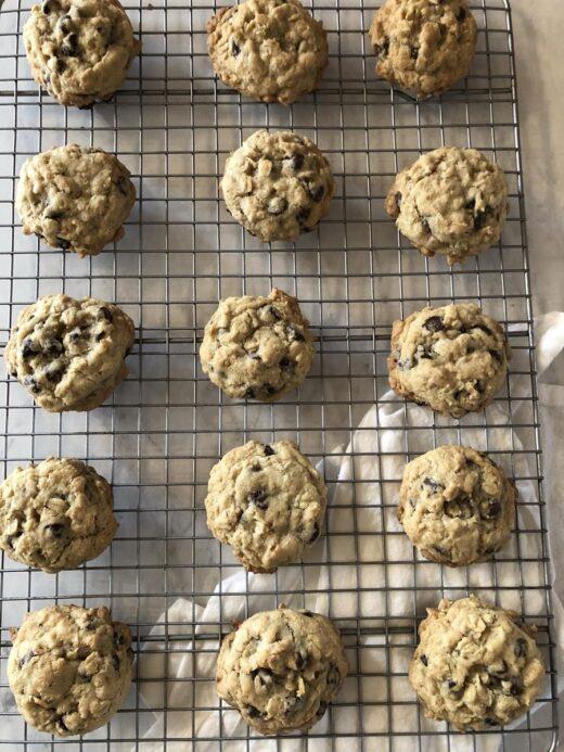 Martha Stewart's Chocolate Oatmeal Cookie on cooling rack