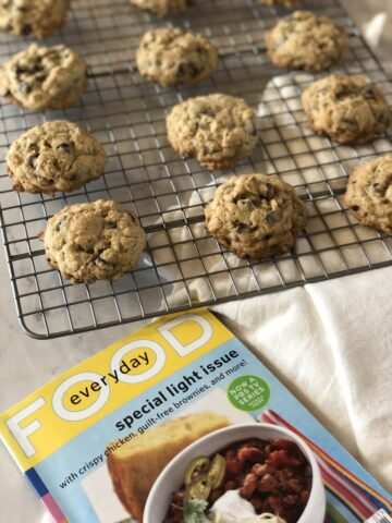 Martha Stewart's Chocolate Oatmeal Cookies on Rack