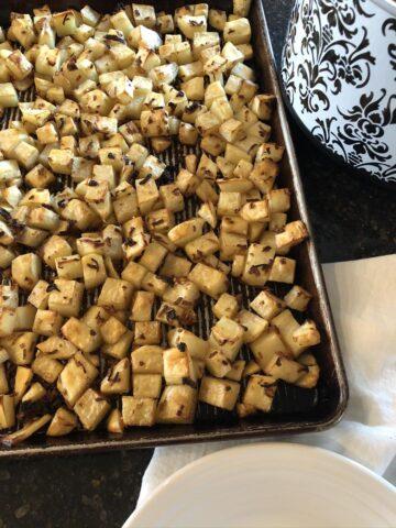 Oven Roasted Onion Potatoes