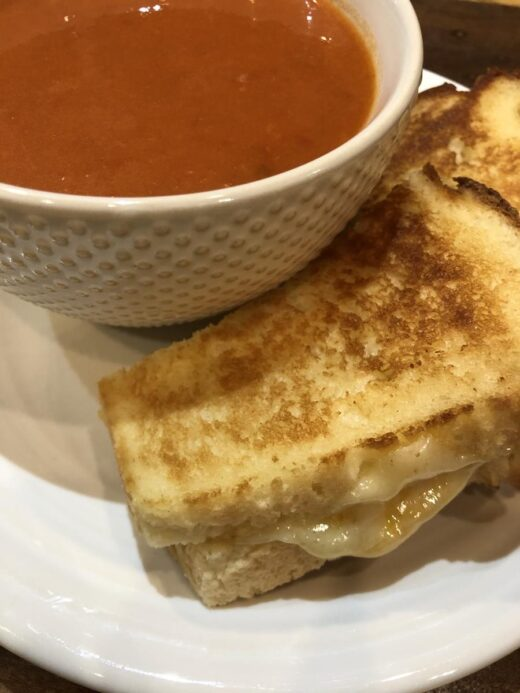 Gluten Free sandwich and tomato soup