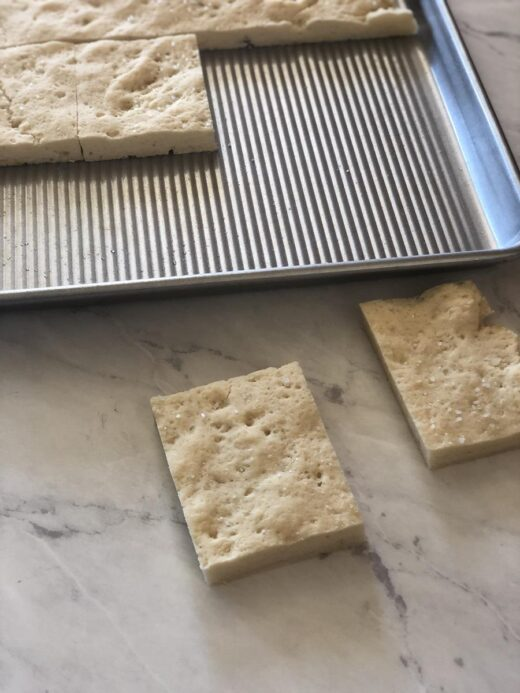 Gluten-Free Focaccia Cut into pieces