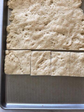 Gluten Free Focaccia in pan