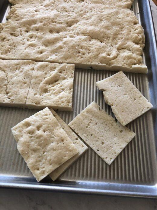 Gluten Free Focaccia Sliced For Sandwiches