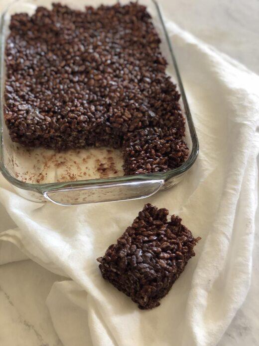 Martha Stewart's Chocolate Marshmallow Crispy Treats Recipe