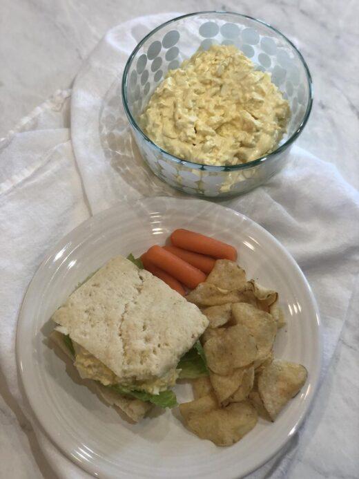Martha Stewart's Egg Salad Sandwich on a plate
