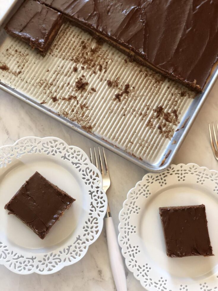 frosted peanut butter brownies