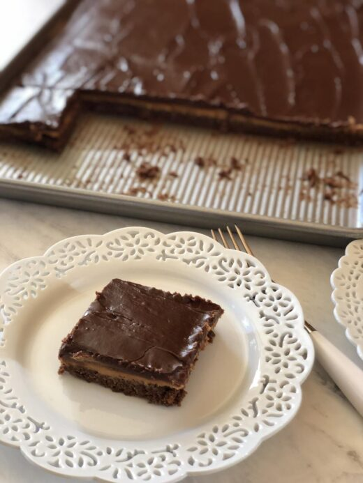 Frosted Peanut Butter Brownie Recipe