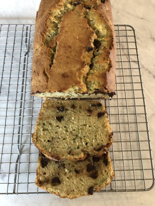 Martha Stewart's Zucchini Applesauce Bread Recipe sliced
