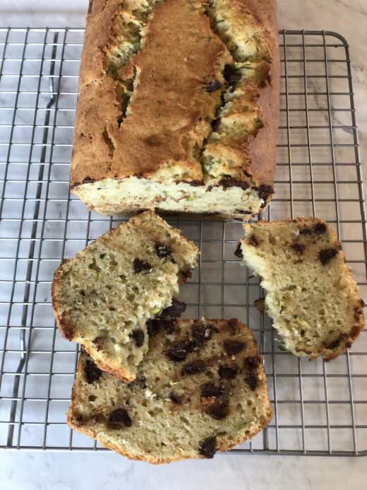 Zucchini Applesauce Bread with Chocolate Chips