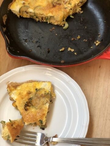 Martha Stewart's Zucchini Frittata in cast iron