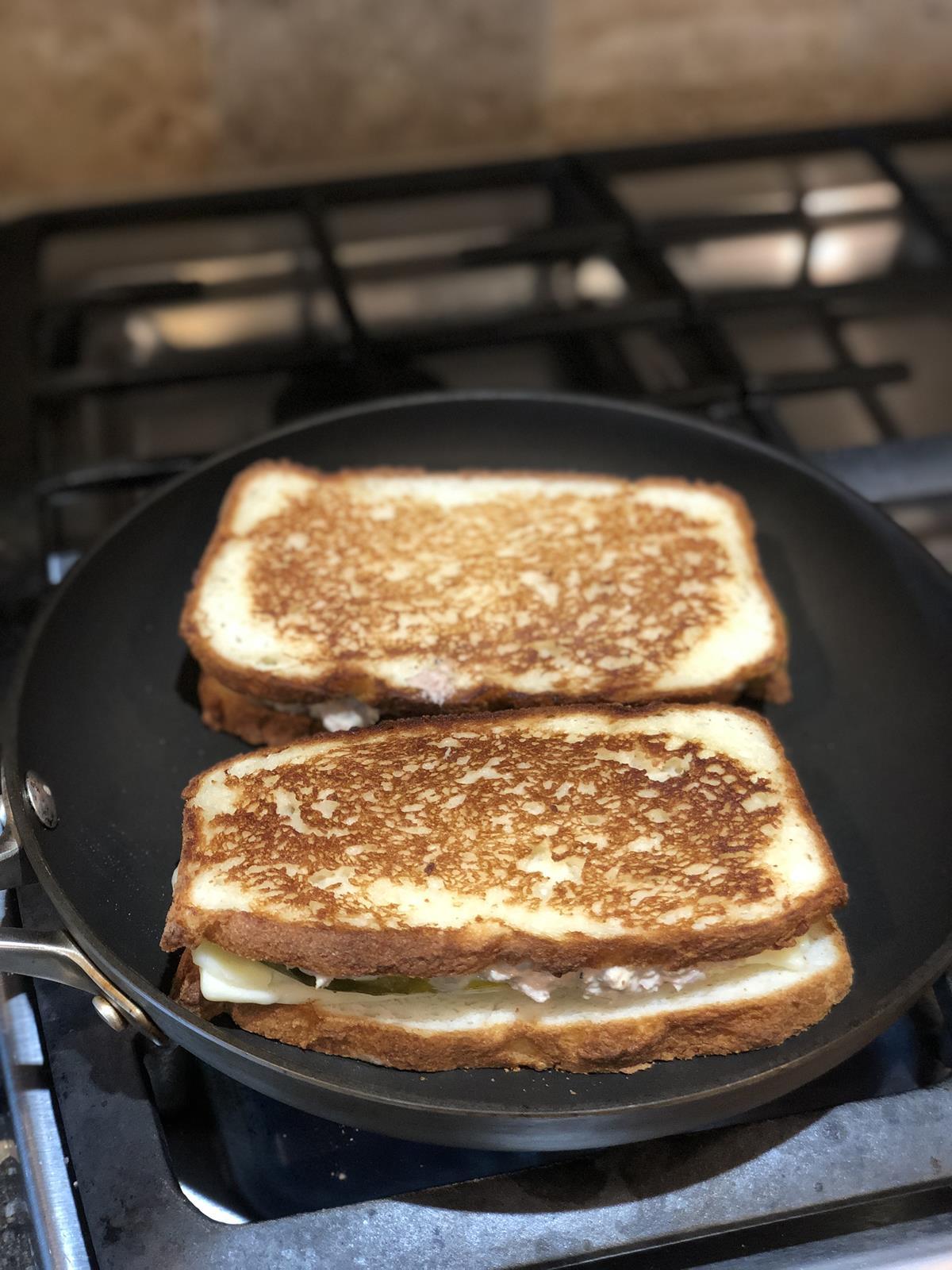 Martha Stewart Tuna Melt cooking
