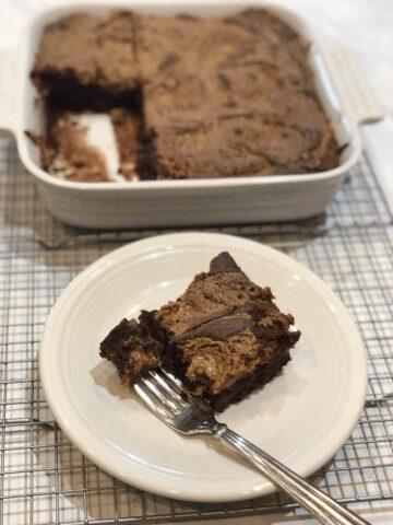 Martha Stewart's Peanut Butter Brownies with Gluten Free Option